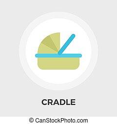 Cradle Vector Flat Icon - Cradle icon vector Flat icon...