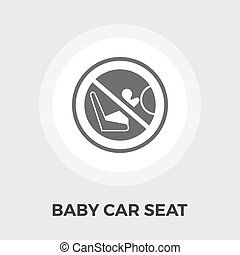 Child Car Seat Flat Icon - Child Car Seat Icon Vector Flat...