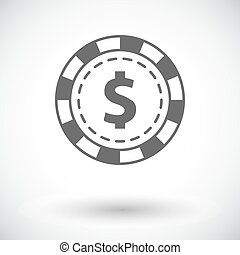 Gambling chips flat icon - Gambling chips. Single flat icon...