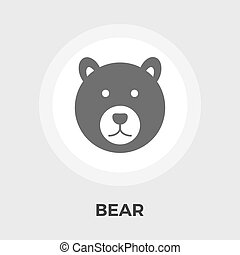 Bear Vector Flat Icon - Bear icon vector Flat icon isolated...