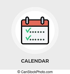 Calendar whit check icon vector Flat icon isolated on the...