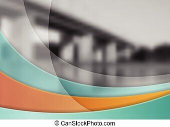Abstract corporate wavy brochure booklet template
