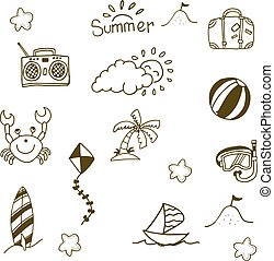 Doodle of Summer icon set