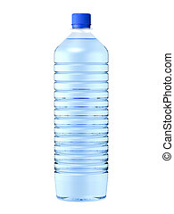 mineral water - Isolated plastic bottle of mineral water. 3D...