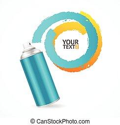 Spray Can Write Speech Bubble. Vector