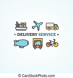 Delivery Concept Vector - Delivery Concept with Transport...