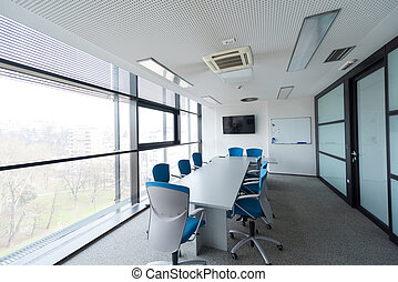 office meeting room - interior of new modern office meeting...