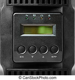 uninterruptible power supply (ups) controller, closeup view
