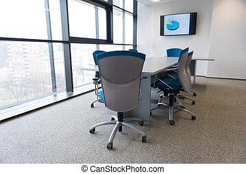 reunião, sala, escritório