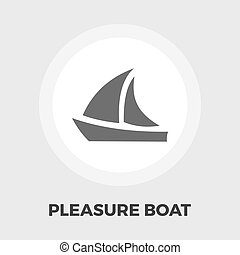 Pleasure Boat Icon Vector. Flat icon isolated on the white...