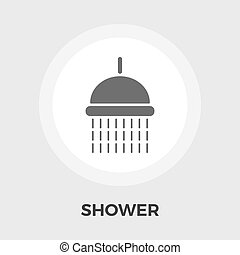 Shower vector flat icon - Shower icon vector Flat icon...