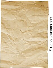 Piece of old paper on white background. Image trace. Vector illustration.