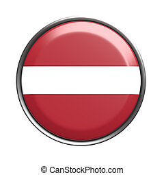 Button with Latvia flag - 3d rendering of Latvia button on...