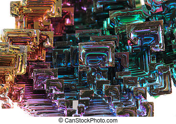 Bismuth - rainbow metal texture as color background