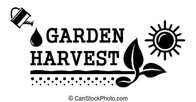 concept harvest symbol - black concept harvest symbol with...