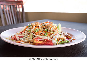 Green papaya seafood salad Som Tum