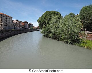 River Dora in Turin - Fiume Dora meaning River Dora in...