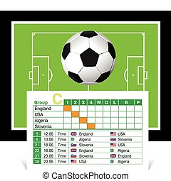 schedule of games of the World Cup