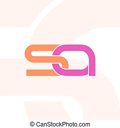 Letters RA logo template. - Letter S and A Logo Icon Design...