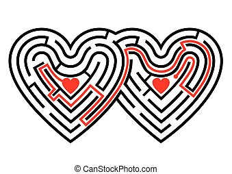 Two hearts maze