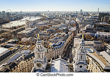 City of London view from St Paul`s Cathedral