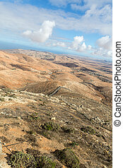Panoramic view on Fuerteventura from Mirador Morro Velosa, -...