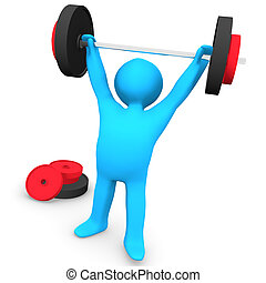 Gym Weight Lifting - A person at the gym.