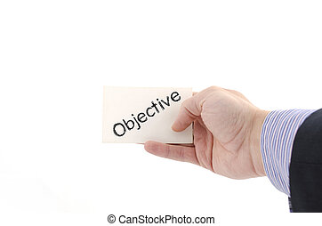 Objective text concept