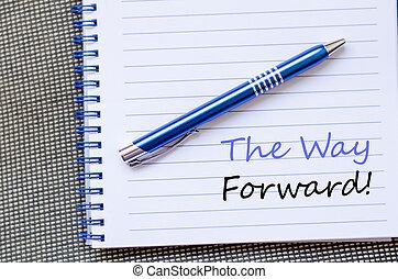 寫, 向前, 筆記本, 方式