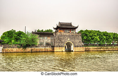 Pingmen Water Gate in Suzhou - Jiangsu, China