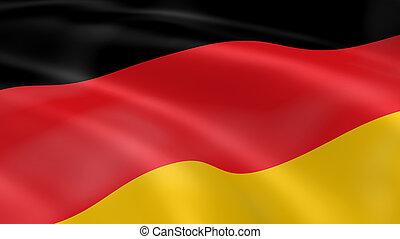 Fahne, deutschland,  Wind