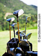 Golf clubs - Bunch of golf clubs in the bag