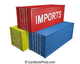 Shipping containers for imports