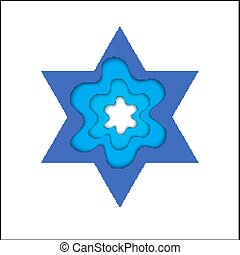 Star of David Magen David, vector religious symbol - Star of...