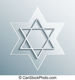 Star of David. Magen David, vector religious symbol. - Star...