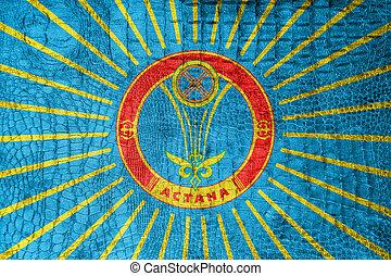 Flag of Astana, on a luxurious, fashionable canvas
