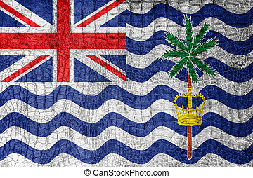 Flag of British Indian Ocean Territory, on a luxurious,...