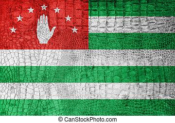 Flag of Abkhazia, on a luxurious, fashionable canvas