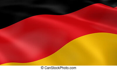 Germany flag in the wind. Part of a series.
