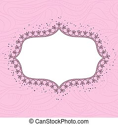 Background with banner flowerframe pink
