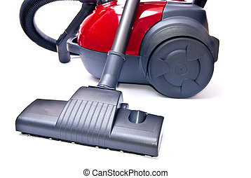 One vacuum cleaner - One red vacuum cleaner isolated on...