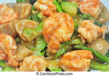 spicy fried prawn - thai style spicy fried prawn