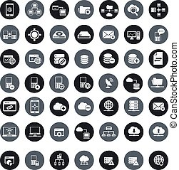 Networking, storage and Communication icon set,vector -...