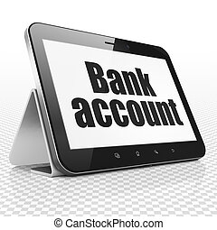Banking concept: Tablet Computer with Bank Account on...
