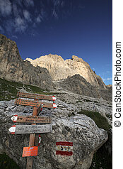 Dolomites - famous hiking trail