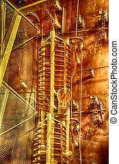 Abstract industy - Abstract industrial image in copper tone.