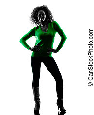 woman silhouette isolated standing