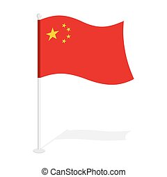 China flag Official national symbol of Republic of China...