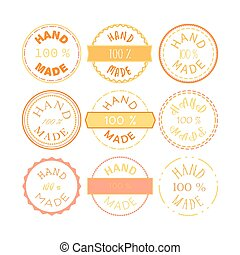Hand Made Badge - Badge template with 100% handmade product...