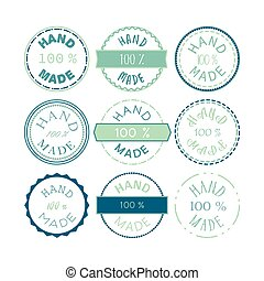 Hand Made Badge - Badge template with 100 handmade product...